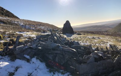 Bomber crash site in the Brecon Beacons
