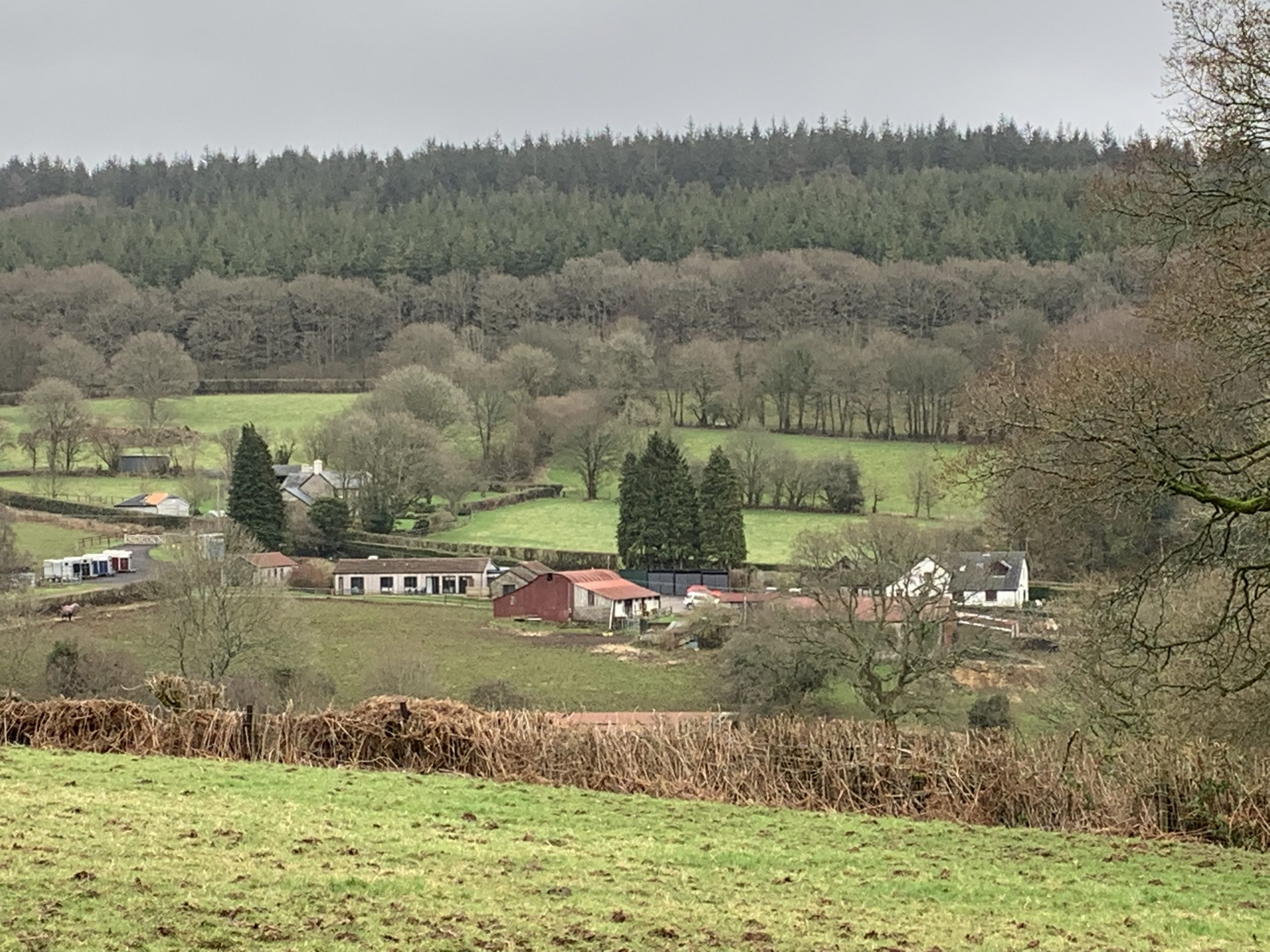 Sugarloaf and Blorenge holiday cottages under construction